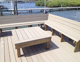 Composite Dock Bench and Table
